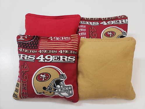 Set of 8 - San Francisco 49ers Red & Gold