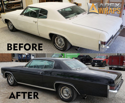 Old car before & after