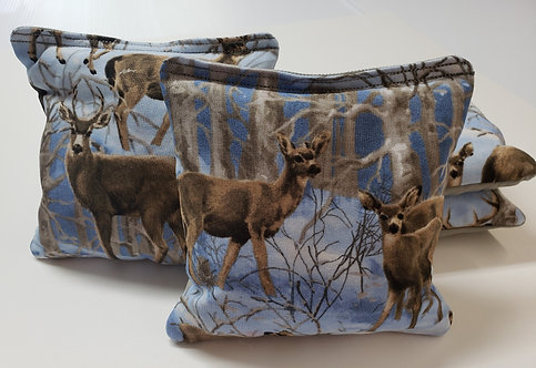 clearance- Set of 4 - Snow Hunting- Deer FREE SHIPPING