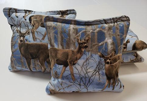 Set of 4 - Snow Hunting- Deer