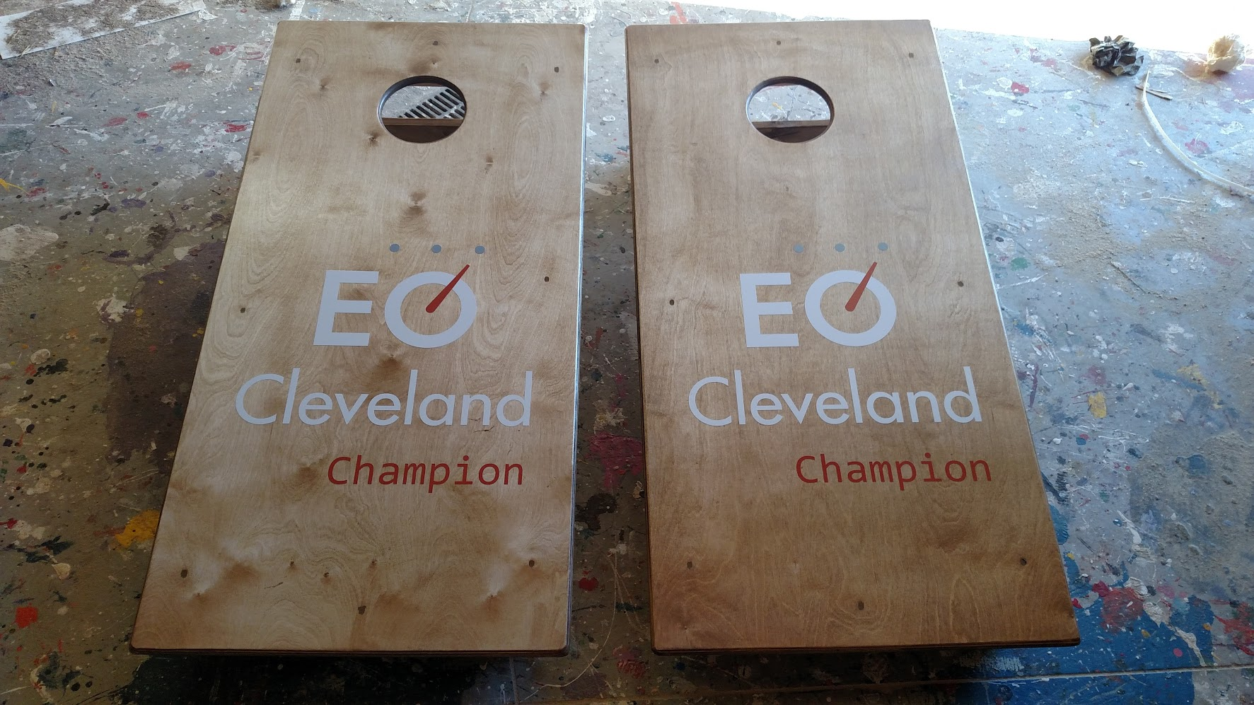 EQ Cleavland Cornhole Board Wrap
