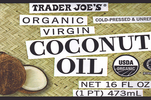 Trader Joe's Can Wrap Coconut Oil