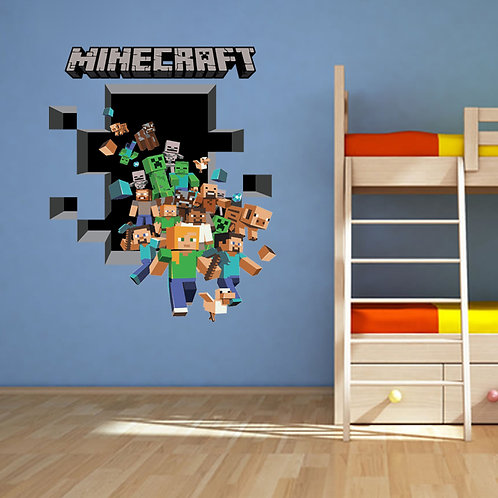 Minecraft Movable Wall Graphic