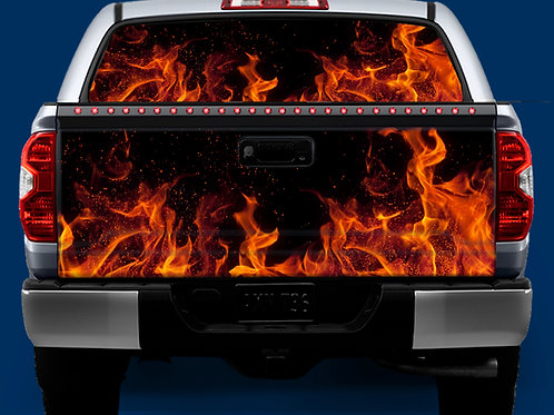 Tailgate / Window Wrap - Fire