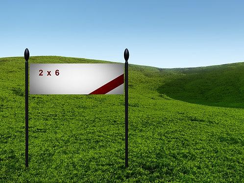 2' x 6' 13oz Banner