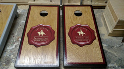 Stained Print Cornhole Board Wraps