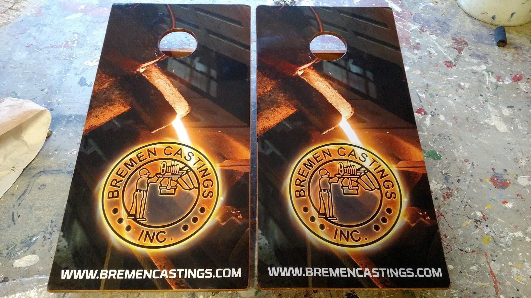 Breman Casting Cornhole Board Wraps