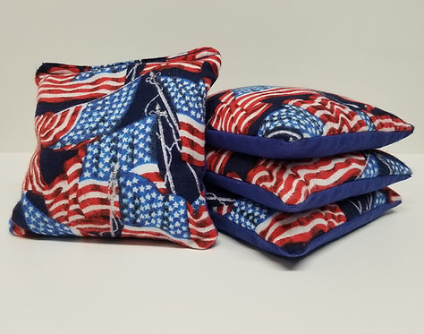 Set of 4 - American Flag
