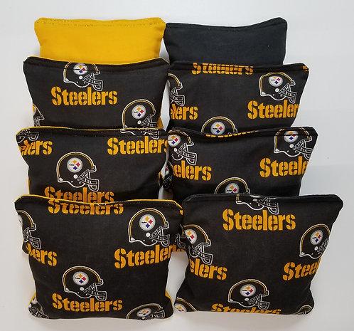 Set of 8 - Steelers Black & Yellow