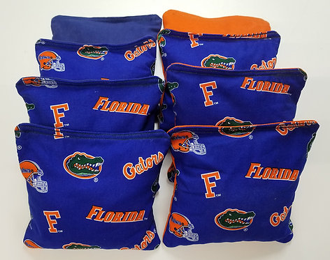 Set of 8 - Gators Blue & Orange