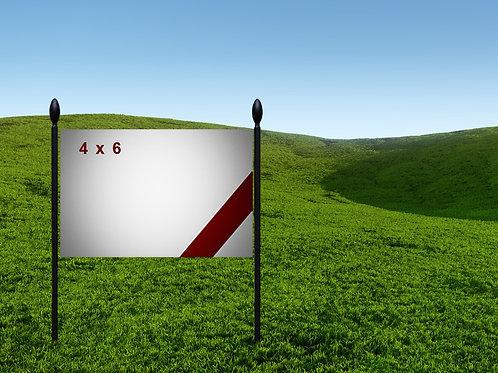 4' x 6' 13oz Banner