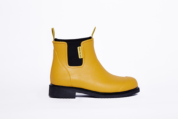 Bobbi Gumboot // Mustard Yellow & Black