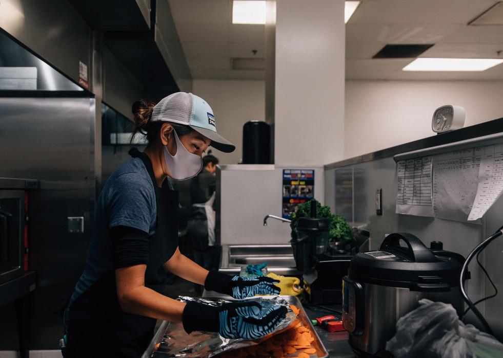 Dana cooking