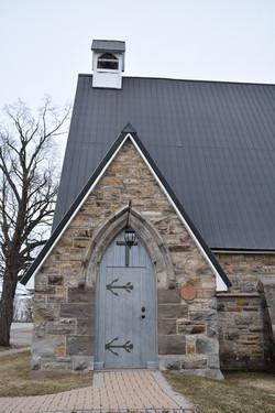 The front door of the church.