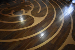 Close up of the labyrinth.
