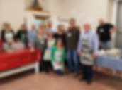 The Outreach committee at a church supper.