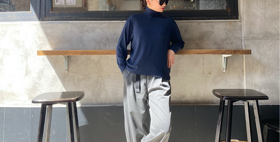 CROPPED TAPERED PANTS WITH BELT (Recommended Item!)