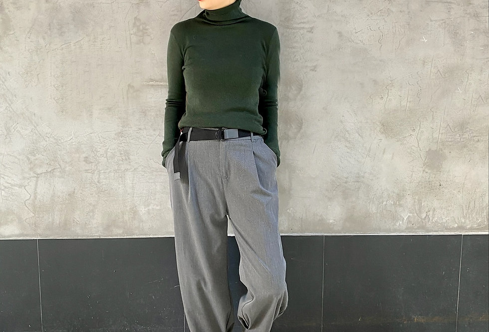 TURTLE NECK BASIC TOP (Recommended Item!)