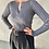 Thumbnail: WIDE LEG PANTS WITH BRASS GOLD BUCKLE