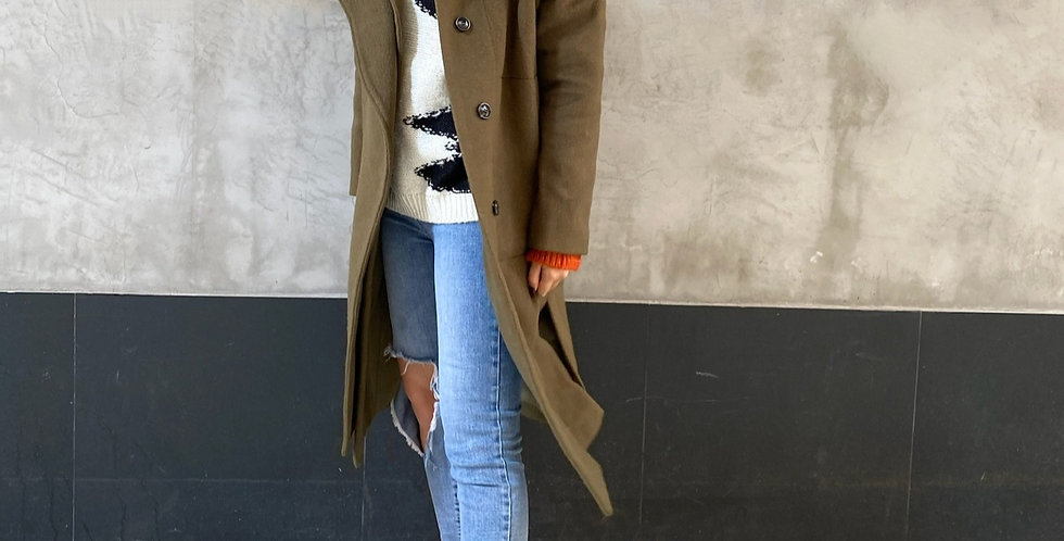 OVER SIZED WOOL BLEND COAT