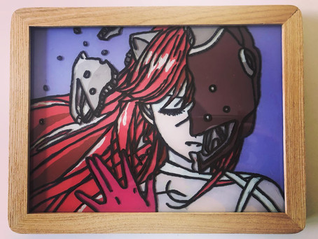 Anime Glass Painting - Elfen Lied