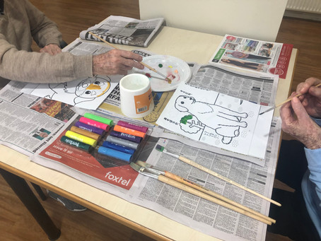 Strengthening fine motor skills through painting