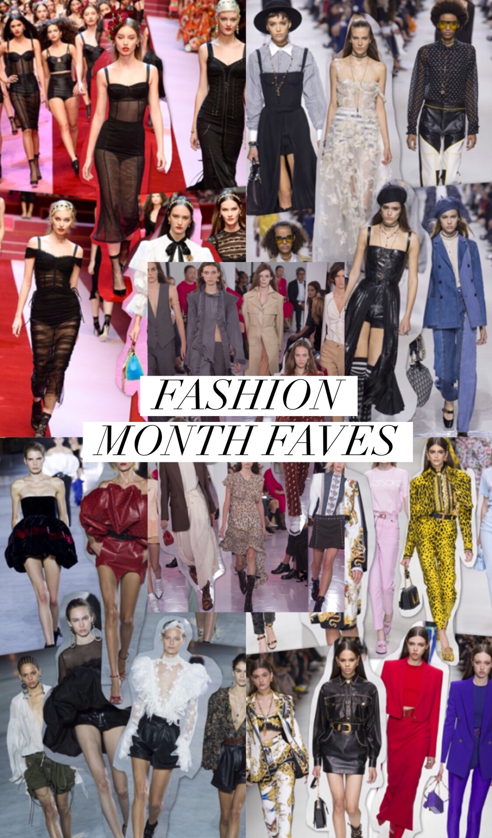 FASHION MONTH BREAKDOWN // TOP 5 FAVES