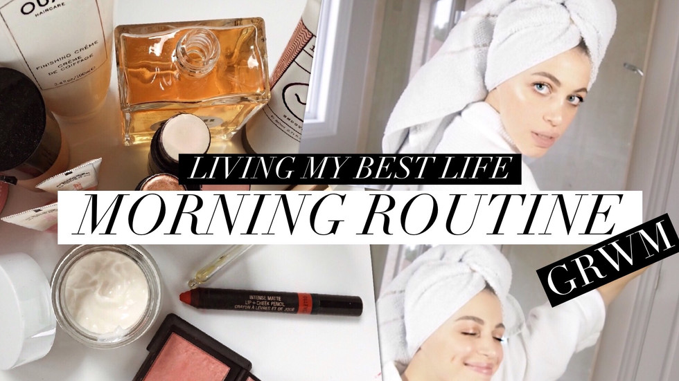 MORNING ROUTINE GRWM // LIVING MY BEST LIFE