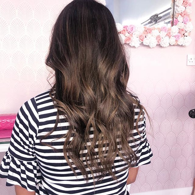 Soft balayage for this stunning client �
