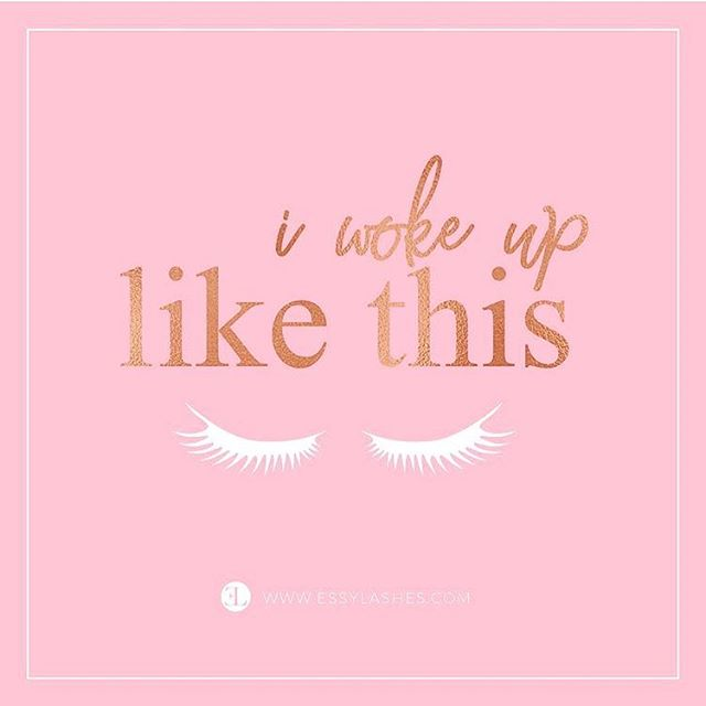 Wake up with lashes ✨ ..