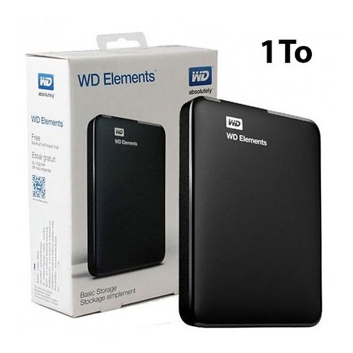 Western Digital Disque dur Externe 1To -USB 3.0