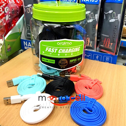 Oraimo cable type-c Colors