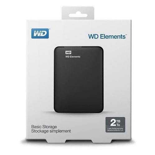 Western Digital Disque dur Externe Portable 2To -USB 3.0