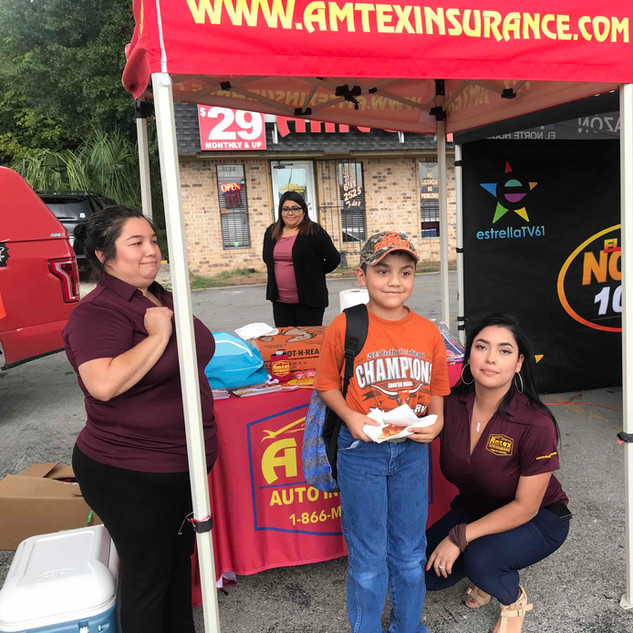 Amtex Auto Insurance Backpack giveaways