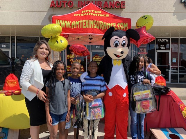 Amtex Insurance Backpack giveaways