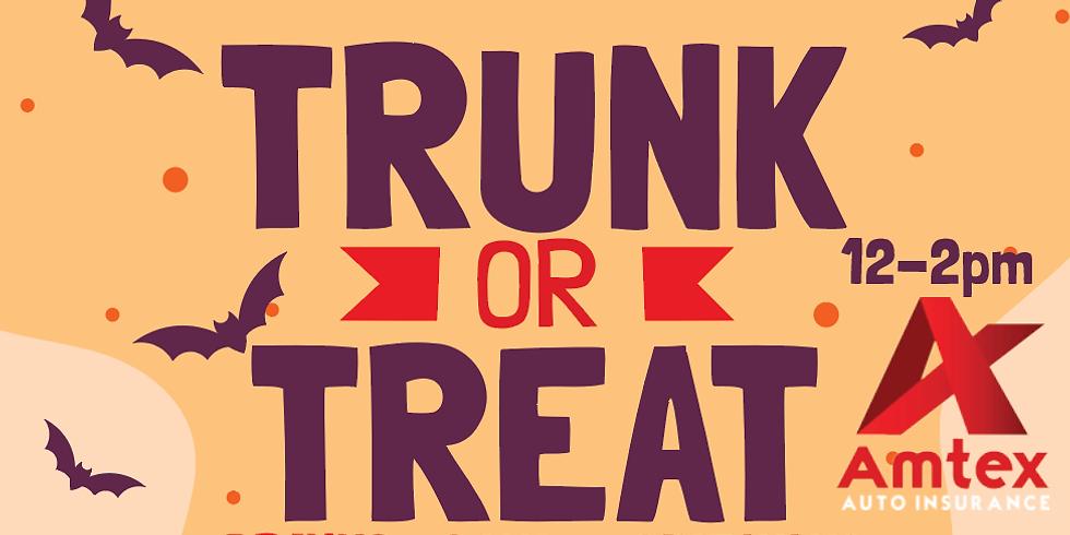 Trunk or Treat event at Amtex Insurance participant stores/ en tiendas participantes