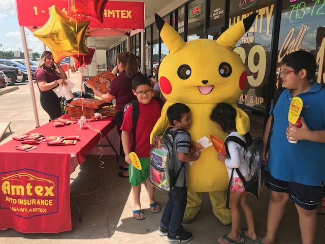 Amtex Auto insurance Backpack giveaway S