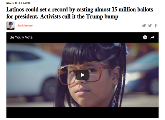Be You y Vota featured on LA TIMES