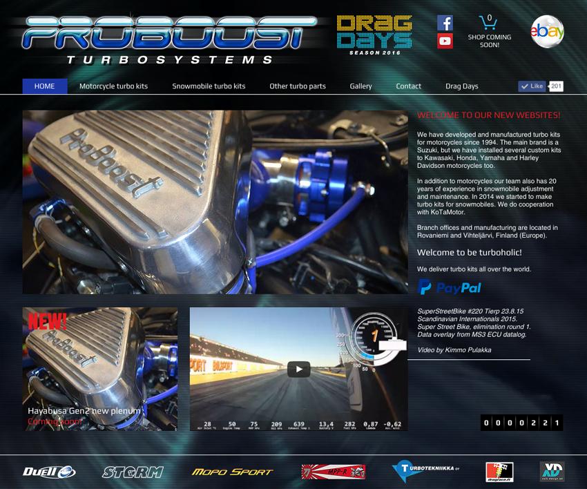 Motorcycle turbo kits | ProBoost turbosystems Finland