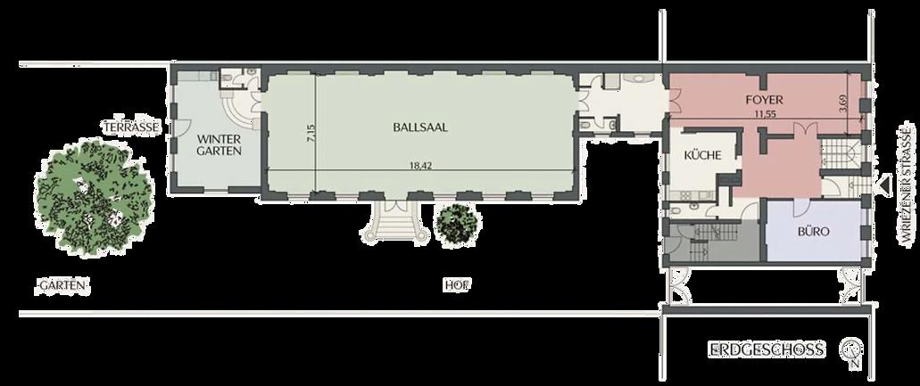 Ballsaal Studio Grundriss freigestellt K