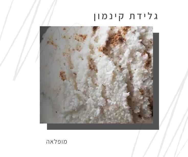 מתכון לגלידת קינמון טבעונית-גליה יהודה-הבית לנטורופתיה במודיעין