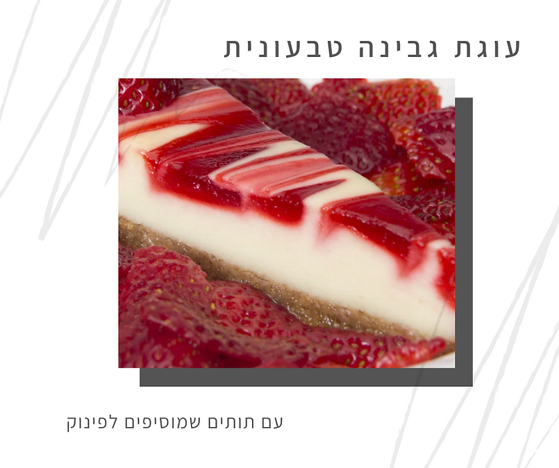 מתכון לעוגת גבינה טבעונית-גליה יהודה-הבית לנטורופתיה במודיעין