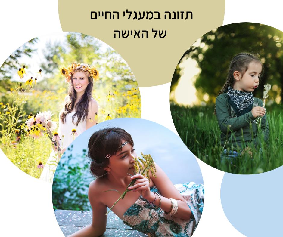 תזונה במעגלי החיים של האישה-גליה יהודה וותיקת הנטורופתים-הבית לנטורופתיה במודיעין