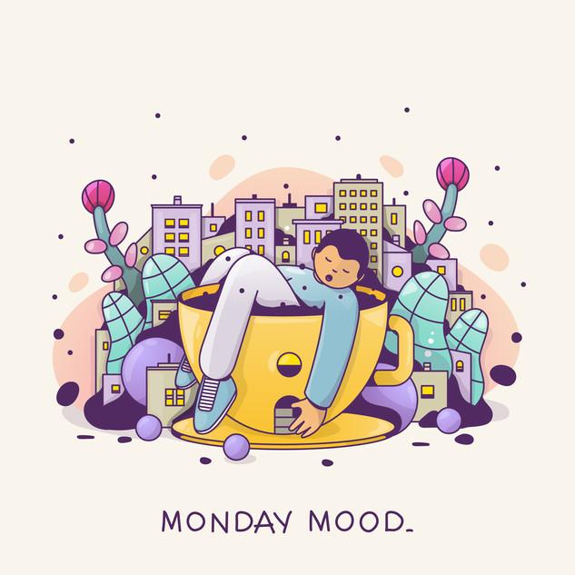 Monday mood poster