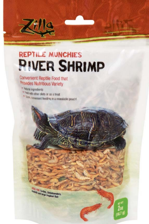 ZILLA REPTILE MUNCHIES RIVER SHRIMP FOOD
