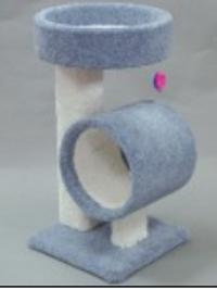 CLASSY KITTY PEDESTAL W/TALL TUNNEL