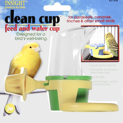 JW PET INSIGHT CLEAN CUP FEEDER & WATER CUP