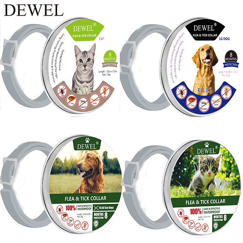 Dewel Pet Flea Collar for Cat & Dog