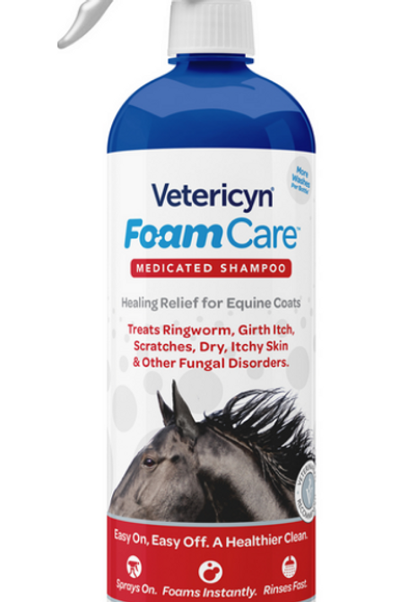 VETERICYN FOAMCARE EQUINE MED SHAMPOO