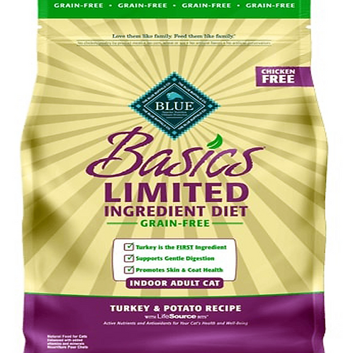 BLUE BUFFALO CAT GRAIN-FREE TURKEY INDOOR